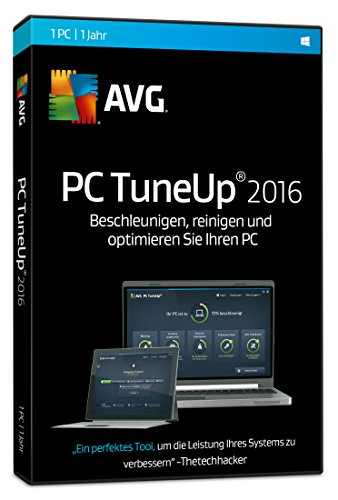 AVG TuneUp Utilities 2016 1-Platz CD-ROM Windows 10 / Windows 8 / Windows 7 / Windows Vista / Windows XP SP3 DVD-Box