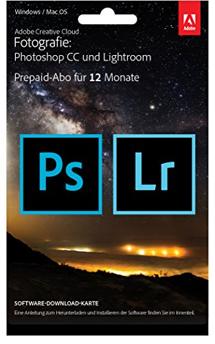 Adobe Creative Cloud Fotografie Photoshop CC + Lightroom – 1 Jahreslizenz Mac/PC