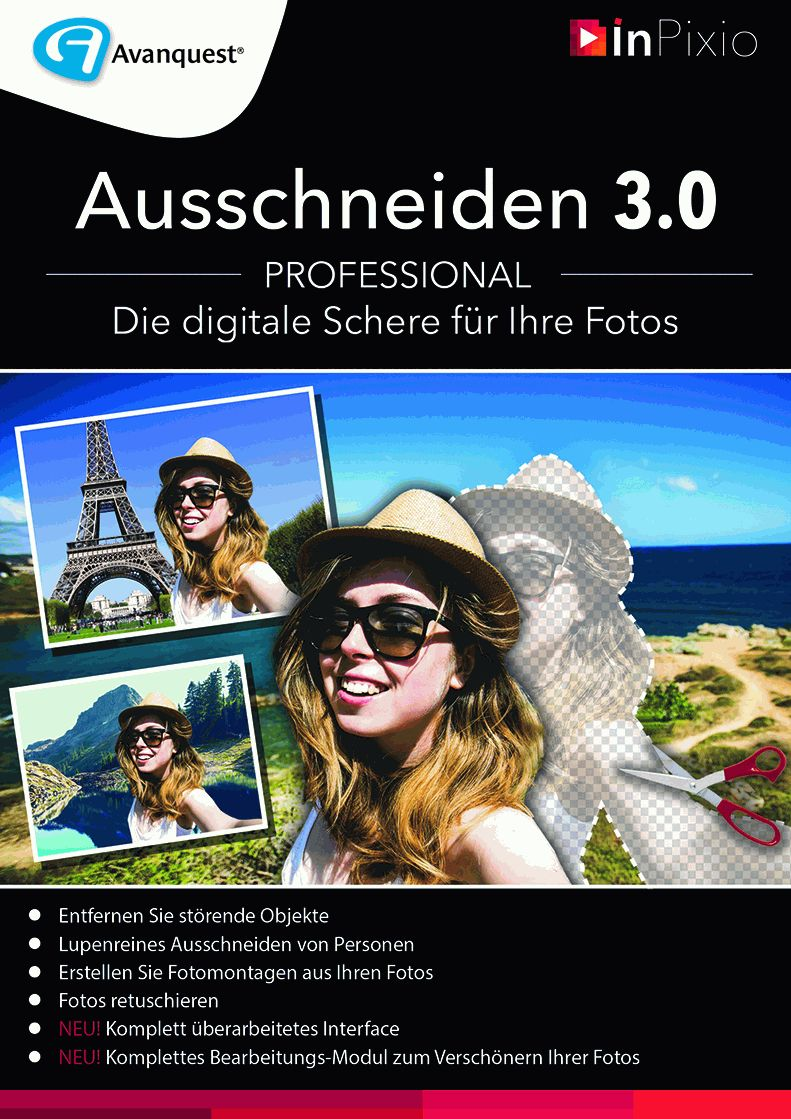 Ausschneiden 3.0 Professional – Die digitale Schere für Ihre Fotos! Windows 10|8|7|Vista|XP Download