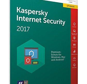 Online Code in einer Kiste Frustfreie Verpackung – Kaspersky Internet Security 2017 1 Gerät Upgrade