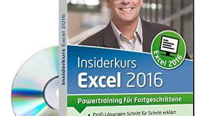 Insiderkurs Excel 2016 – Powertraining für Fortgeschrittene 1 Nutzer-Lizenz