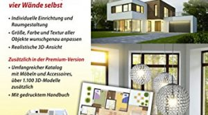 Sweet Home 3D Wohnungsplaner – für Windows 10-8-7-Vista-XP & MAC – Premium Edition mit zusätzlichen 1.100 3D Modelle und gedrucktem Handbuch, ideal für die Architektur, Haus und Wohnplaner