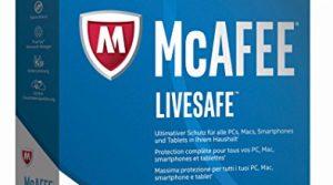 Code in a Box – McAfee LiveSafe 2017 für eine unbegrenzte Anzahl an Geräten Minibox