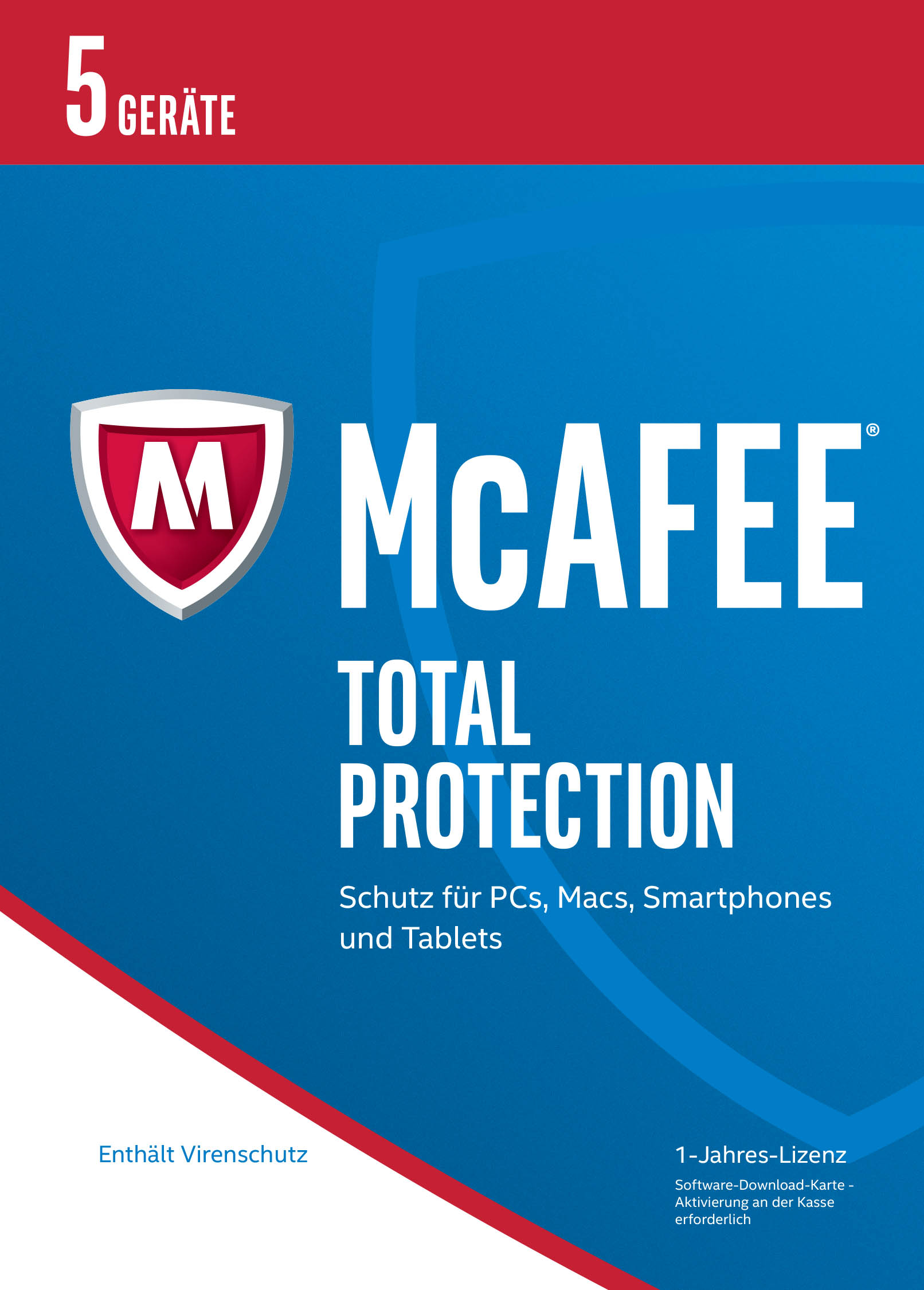 McAfee Total Protection 2017 für 5 Geräte Download Code Online Code