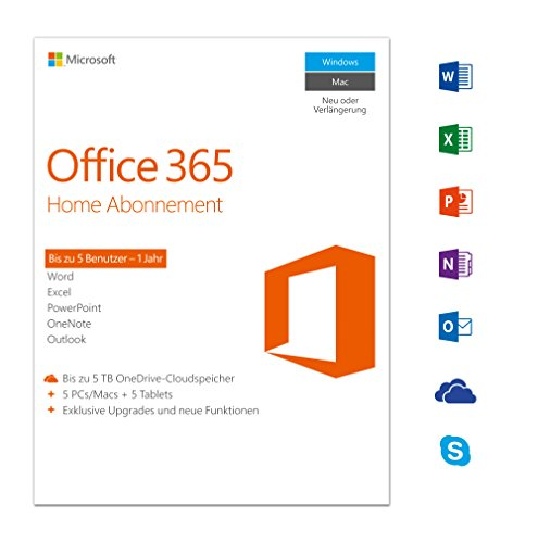 5PCs/MACs – 1 Jahresabonnement – multilingual Product Key  Download – Microsoft Office 365 Home