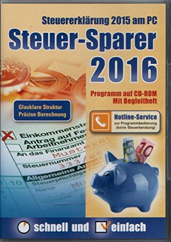 Steuererklärung 2015 am PC – Präzise Brechnung – Steuer-Sparer 2016 Glasklare Struktur