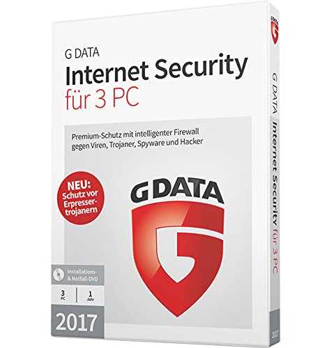 G DATA Internet Security 2017 für 3 PC