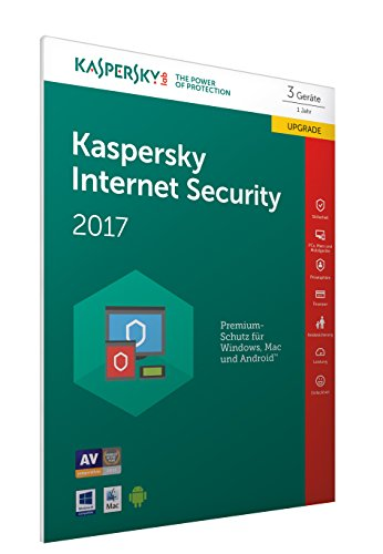 Kaspersky Internet Security 2017 3 Geräte – Upgrade Online Code Frustfreie Verpackung