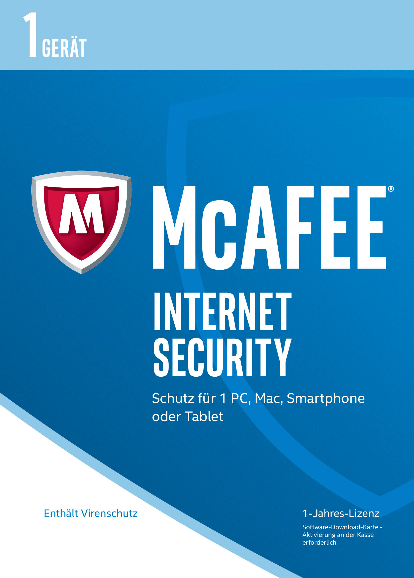 McAfee Internet Security 2017 für 1 Gerät Download Code Online Code
