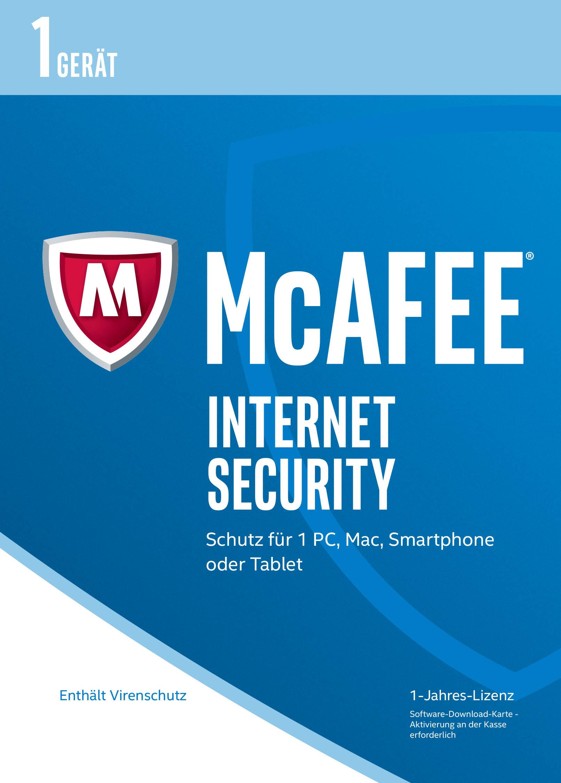 McAfee Internet Security 2017 für 1 Gerät Download Code Online Code