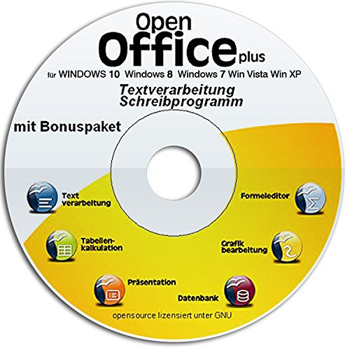 Open Office Premium 2017 CD DVD voll kompatibel zu Microsoft Word und Excel -Für Windows 10 Windows 7, Win 8,XP und Vista