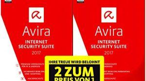 1+1 Special 2 Lizenzen oder 2 Jahre – Avira Internet Security Suite 2017