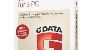 G DATA Total Security 2017 Vollversion – 3 PC / 1 Jahr