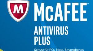 McAfee AntiVirus Plus 2017 für 10 Geräte Online Code