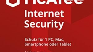 McAfee Internet Security  2018   1 Gerät   1 Jahr   PC/Mac/Smartphone/Tablet   Code in a Box
