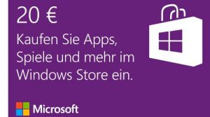 Windows Store – 20 EUR Guthaben Online Code