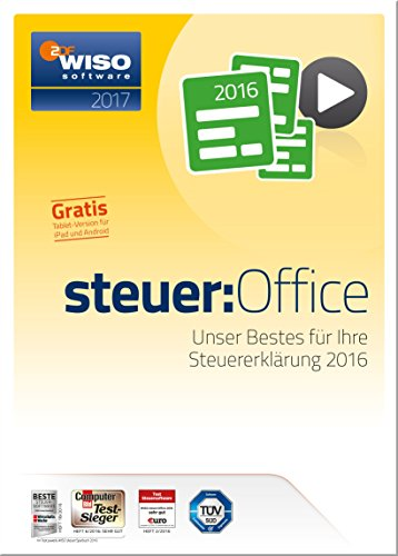 wiso steuer office 2017 f r steuerjahr 2016 pc download. Black Bedroom Furniture Sets. Home Design Ideas