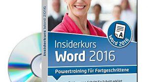 Powertraining für Fortgeschrittene 1 Nutzer-Lizenz – Insiderkurs Word 2016