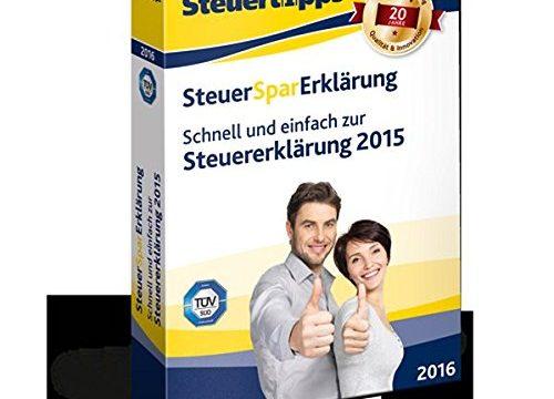 SteuerSparErklärung 2016 für Steuerjahr 2015