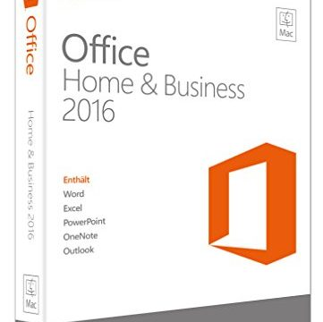 Microsoft Office Mac Home and Business 2016 Product Key Card ohne Datenträger