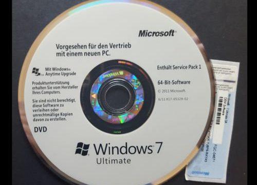 Windows 7 Ultimate 64-Bit DVD SP1 + OEM Lizenz Multilanguage