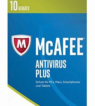 McAfee AntiVirus Plus 2017   10 Geräte   1 Jahr   PC/Mac/Smartphone/Tablet   Download
