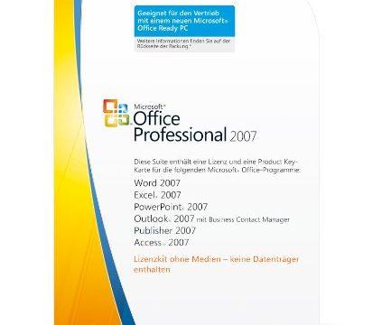 Microsoft Office Professional 2007 1 Lizenz-Key