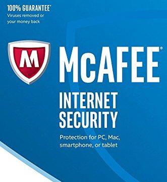 Software Edition 2018 von der Herstellerseite | 1 Gerät | 1 Jahr | mit den neusten Updates FFPFrustfreie Verpackung – McAfee Internet Security
