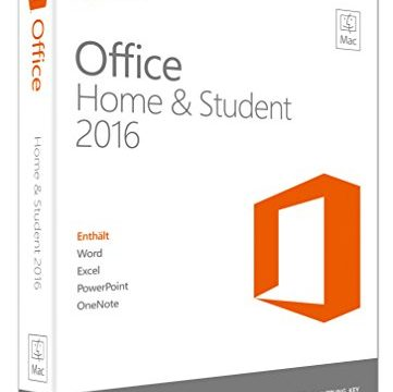 Microsoft Office Mac Home and Student 2016 Product Key Card ohne Datenträger