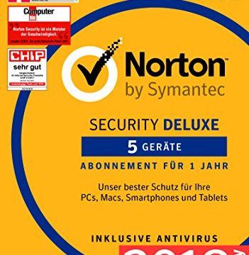 Norton Security Deluxe 2018 | 5 Geräte | 1 Jahr | Windows/Mac/Android/iOS | Download