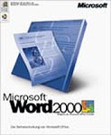 Microsoft Word 2000 CD W32 / Textverarbeitung Vollversion