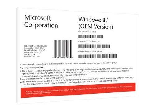 Windows 8.1 OEM 64 Bit Vollversion