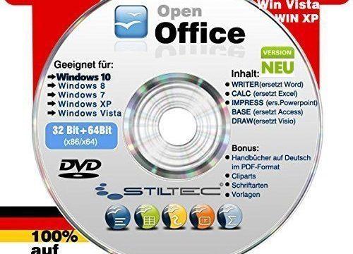 Open Office Paket 2018✔ PREMIUM für Windows 10 ® Windows 8 WIN 7 Vista XP ✔ Schreibprogramme✔ ORIGINAL von STILTEC © NEU