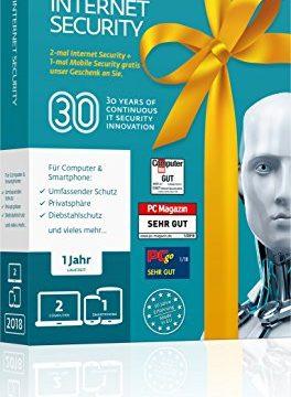 ESET Birthday Edition |2x Internet Security & 1x Mobile Security | Insgesamt 3 Geräte | 1 Jahr Virenschutz | Für Windows 10, 8, 7 und Vista und Android | Download
