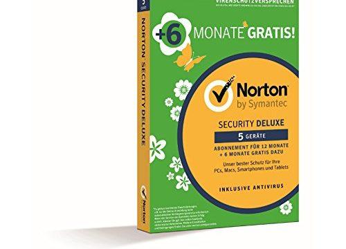 Norton Security Deluxe 1 User, 5 Device, 18 Monate|Version 3.0|5|18 Monate|für PC, Handy, Tablet, Mac|Download