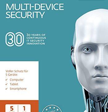 Eset Multi-Device Security 2018 | 5 User | 1 Jahr Virenschutz | Windows 10, 8, 7 und Vista, macOS, Linux und Android | Download