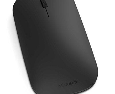 Microsoft Designer Bluetooth Mouse Maus, schwarz, kabellos, für Rechts- und Linkshänder geeignet