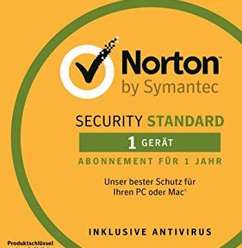 Norton Security Standard Antivirus Software 2018 / Zuverlässiger Virenschutz Jahres-Abonnement für 1 Gerät / Download für Windows u.a. Vista, 8 & 10, Mac, Android & iOS