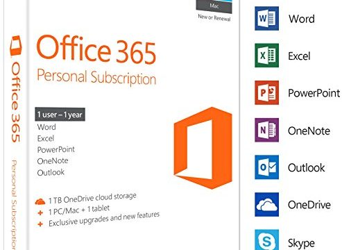 MS Office 365 Personal Mac/Win Subscription P2 EuroZone Medialess 1Year English EN|P2 EuroZone Medialess|1|1|ALL|Download|Download