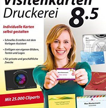 Visitenkarten Druckerei 8.5 – professionelle Visitenkarten gestalten und drucken für Windows 10 / 8.1 / 8 / 7