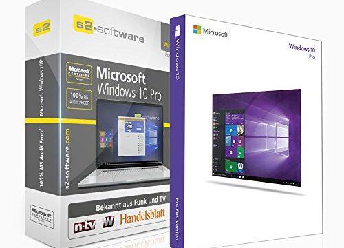 Microsoft® Windows 10 Professional PRO. ISO CD / DVD. 32 bit & 64 bit. Deutsch. Original Lizenzschlüssel mit Software Box der S2 Software GmbH.