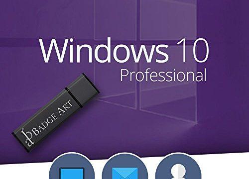 Windows 10 Professional 32/64Bit Badge-Art® USB-Stick 100% Bootfähig mit Lizenzschlüssel