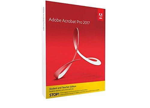 Adobe Acrobat Pro 2017 Student und Teacher Windows Englisch Disc