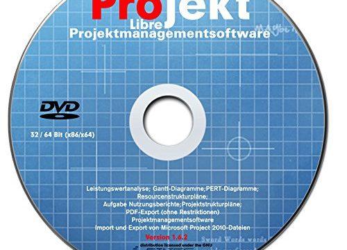 "LIBRE Project 2018 Professional Vollversion deutsch auf DVD Projektplanungstool ""Microsoft-Project-Alternative"" NEU"