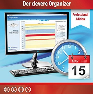 Terminkalender Professional Edition – der clevere Organizer und Adressbuch für zu Hause und Büro – Windows 10 / 8.1 / 8 / 7 / Vista – Terminplaner Software