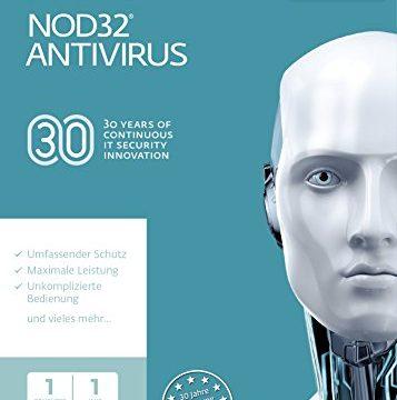 ESET NOD32 Anivirus 2018 | 1 User | 1 Jahr Virenschutz | Windows 10, 8, 7 und Vista | Download