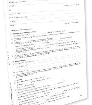 Avery Zweckform 2878e Arbeitsvertrag Teilzeit Word-Download