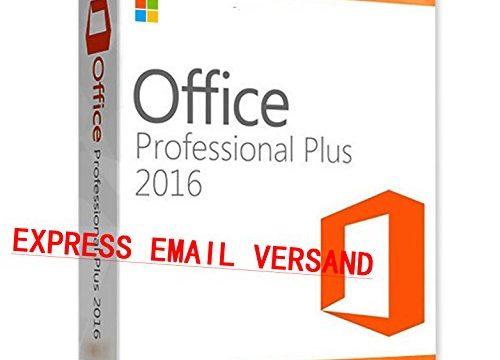 MS Office 2016 Professional Plus Key MS Pro Deutsch 32/64 Bit