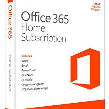 1 Jahres Abonnement Product Key Card ohne Datenträger – 5PCs/MACs – englisch – Microsoft Office 365 Home