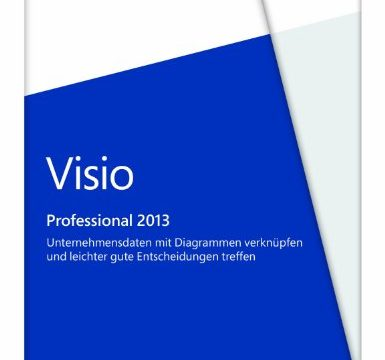 Microsoft Visio 2013 Professional Vollversion deutsch 1PC ohne Datenträger License Windows